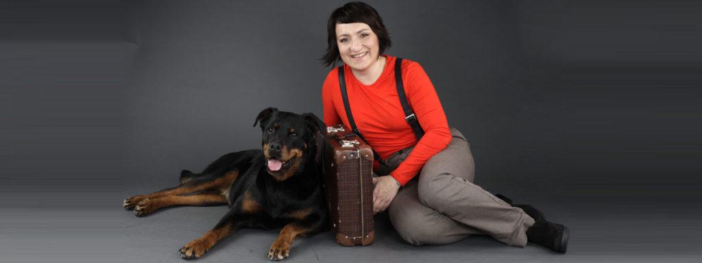 Kinga Rybinska mit ihrer geliebten Shila, einem Rotti-Mädchen aus dem Freiburger Tierheim