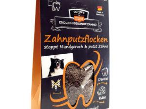 Zahnpflege für Hunde - mit Zahnputzflocken von Qchefs