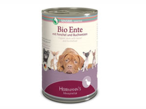 Bio-Ente von Herrmann's - Premium Hundefutter