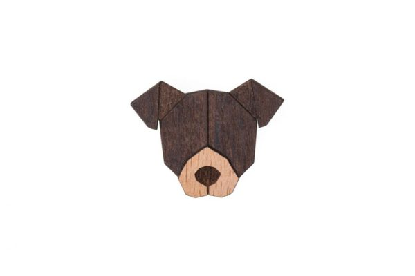 brosche american pit bull terrier bewooden