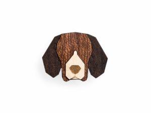 brosche beagle bewooden