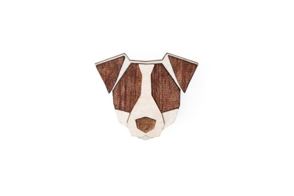brosche Jack Russell Terrier bewooden