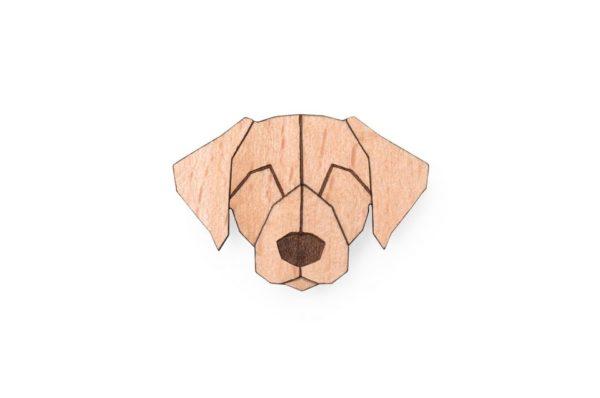 brosche Labrador bewooden