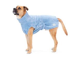 """Hundebademantel aus Bio-Baumwolle """"Ocean Blue"""" von LILL's"""