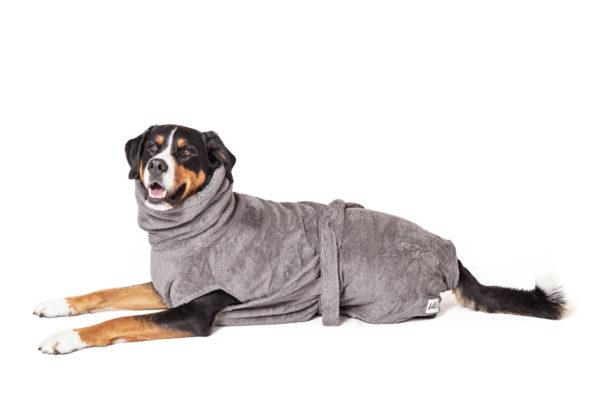 Grauer Hundebdemantel von LILL's