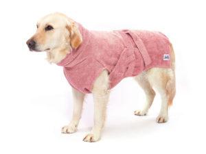 Hundetrockenmantel aus Bio-Baumwolle in Pink von LILLS in