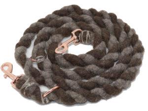 hundeleine schurwolle herz und hund braun 01