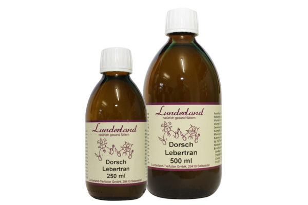 Dorschlebertran für Hund und Katze Lunderland 250- 500ml