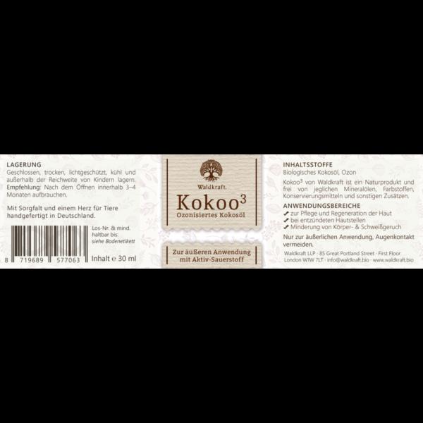 ozonisiertes kokosoel waldkraft kokoo 3 etikett