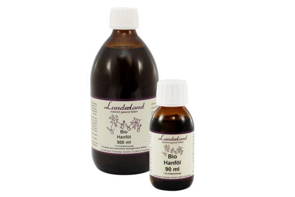 Bio Hanfoöl für Hunde und Katzen von Lunderland