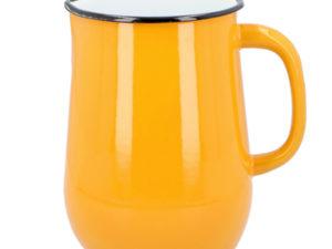 Wasserkanne aus Emaille in Orange