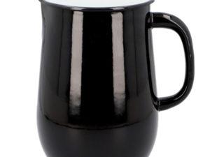 Wasserkrug aus Emaille in Schwarz