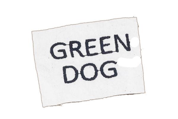 Sticker für Hundebademantel - Green Dog