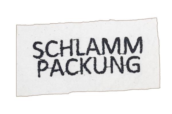 Sticker für Hundebademantel - Schlammpackung