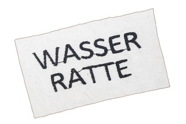 Sticker für Hundebademantel - Wasserratte