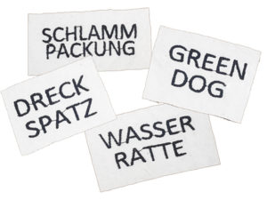 Sticker für Hundebademantel
