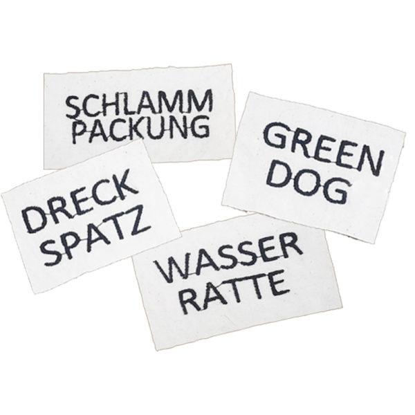 Sticker für Hundebademantel