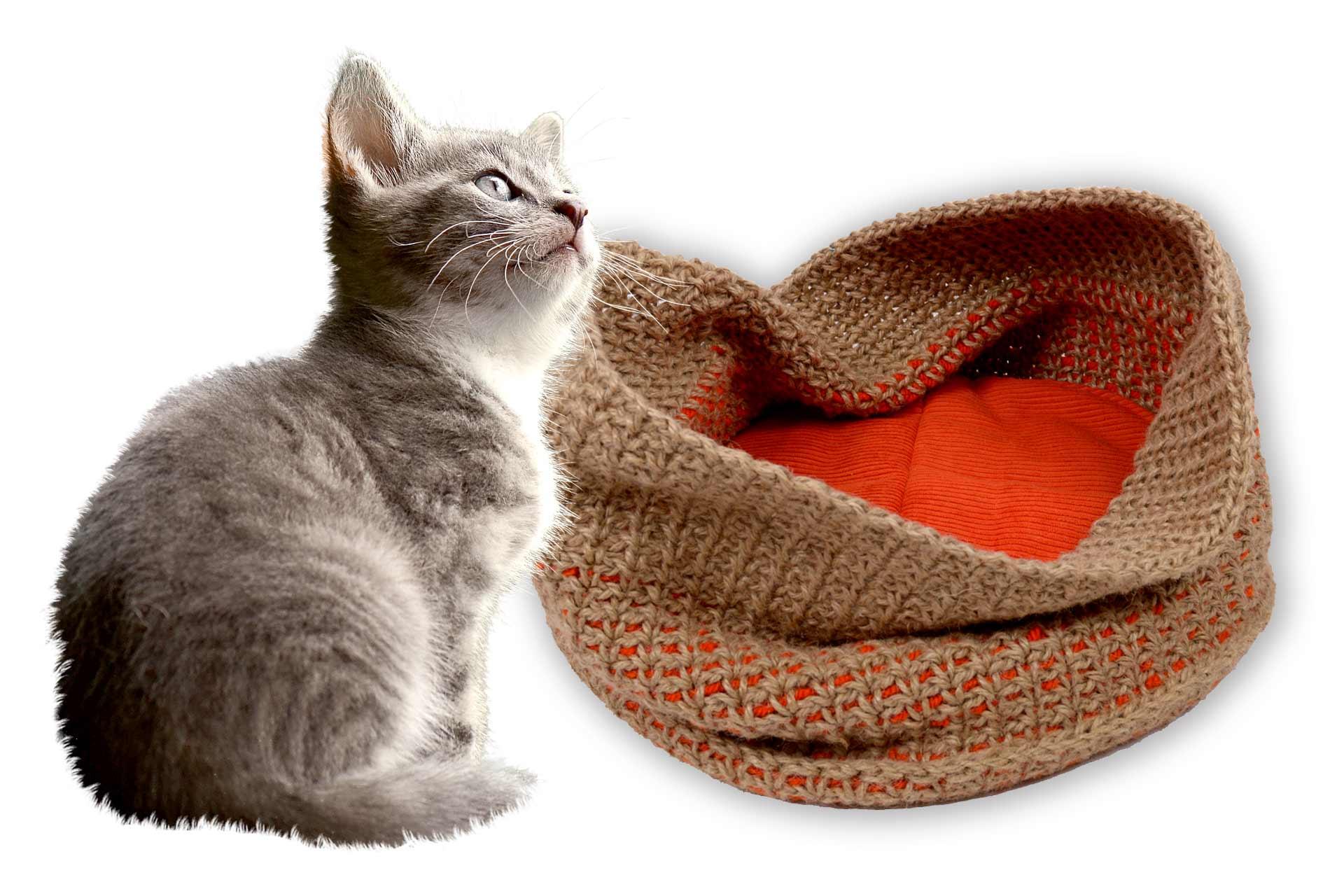 Handgefertigte Katzenkörbe im Tiershop von UNIQUE DOG