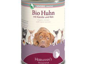 Hundefutter sensitiv: Bio-Huhn mit Reis und Karotten von HERRMANN'S