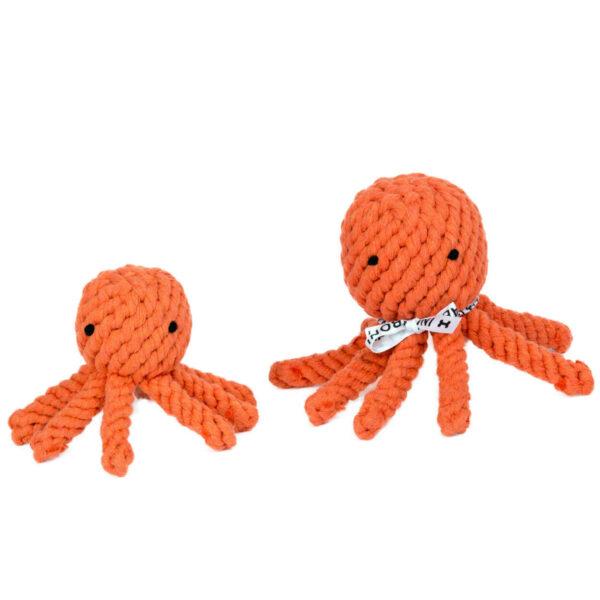 Tau Hundespielzeug Tintenfisch in zwei Größen