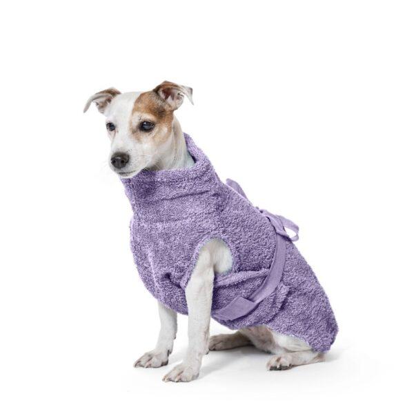 Hunde Bademantel bio lila